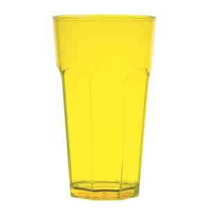 стакан большой желтый